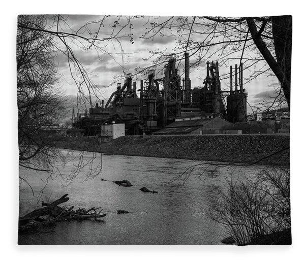 Bethlehem Steel Bw Fleece Blanket