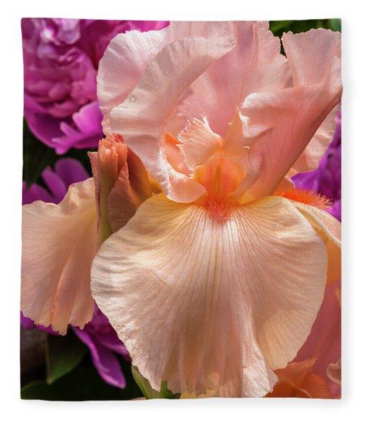 Beverly Sills Iris Fleece Blanket