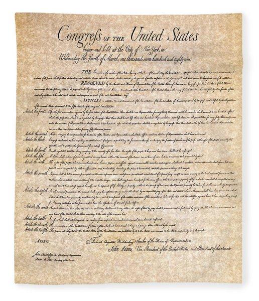 Bill Of Rights Fleece Blanket