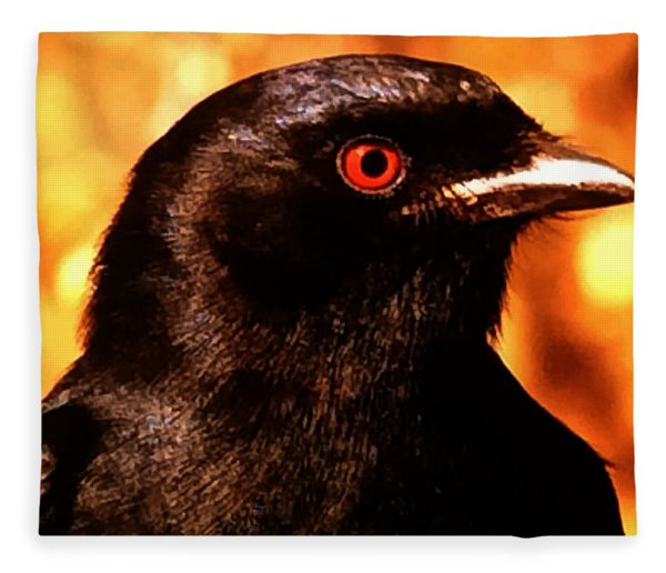 Fleece Blanket featuring the photograph Bird Friend  by Colette V Hera  Guggenheim