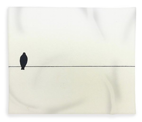 Bird On A Wire Fleece Blanket