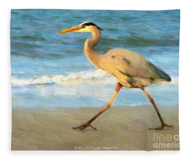 Bird With A Purpose Fleece Blanket