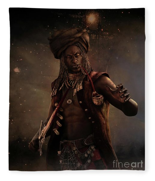 Black Caesar Pirate Fleece Blanket