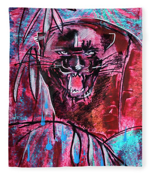 Black Panther,  Original Painting Fleece Blanket