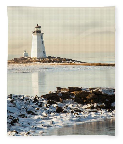 Black Rock Harbor Fleece Blanket