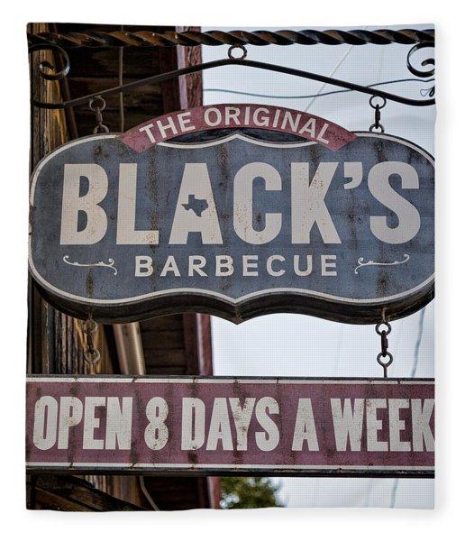 Blacks Barbecue #1 Fleece Blanket