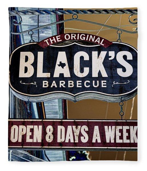Blacks Barbecue #2 Fleece Blanket
