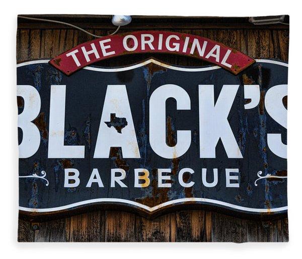 Blacks Barbecue Sign #2 Fleece Blanket