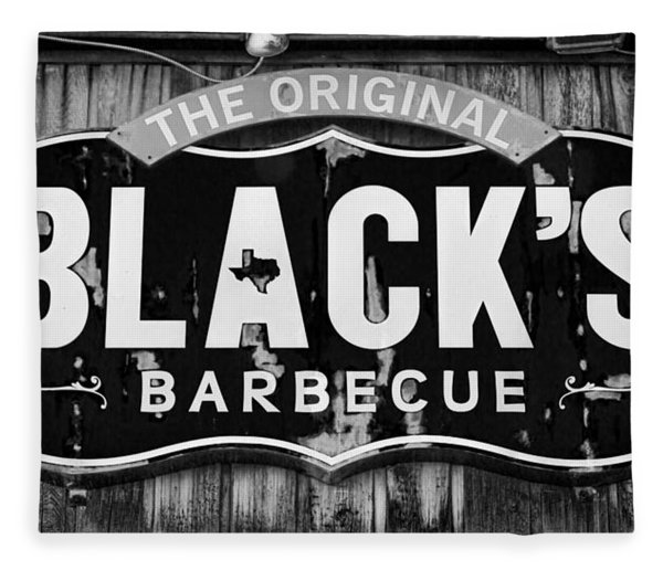 Blacks Barbecue Sign #3 Fleece Blanket