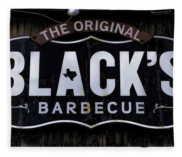 Blacks Barbecue Sign #4 Fleece Blanket