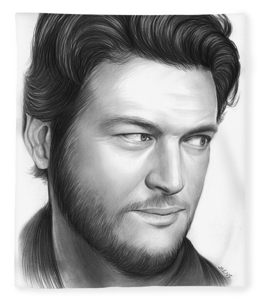 Blake Shelton Fleece Blanket