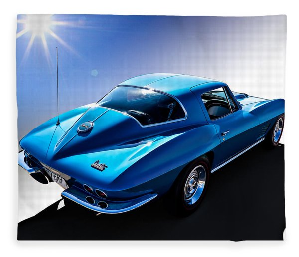 Blue '67  Fleece Blanket