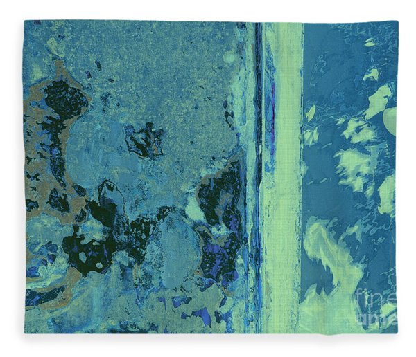 Blue Abstraction Fleece Blanket