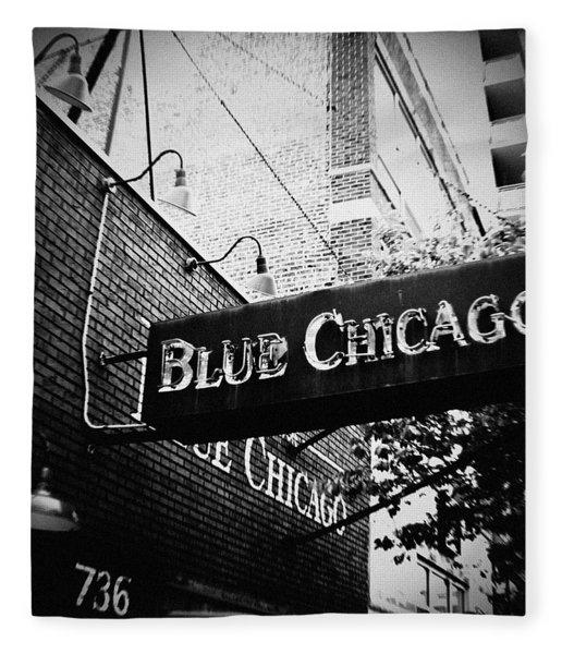 Blue Chicago Nightclub Fleece Blanket