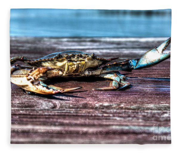 Blue Crab - Big Claws Fleece Blanket