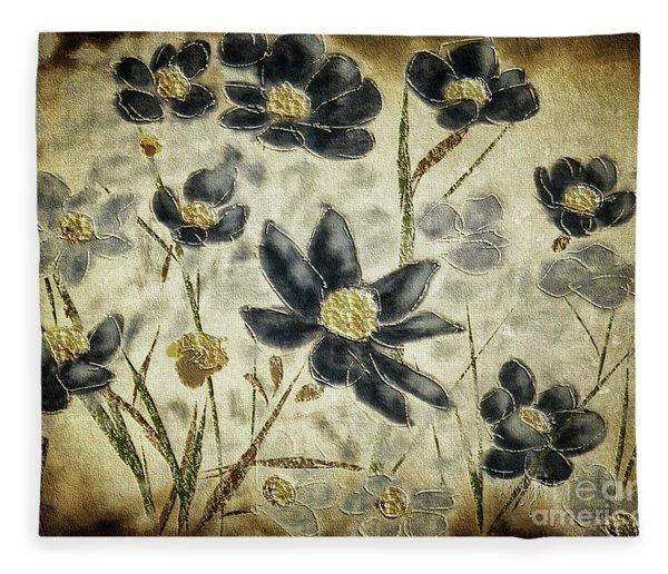 Blue Daisies Fleece Blanket