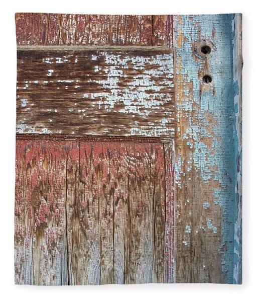 Blue Door Crackle Fleece Blanket