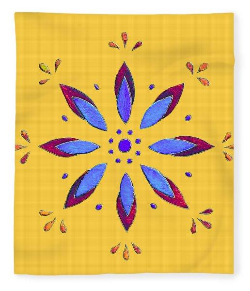 Blue Flower Fleece Blanket
