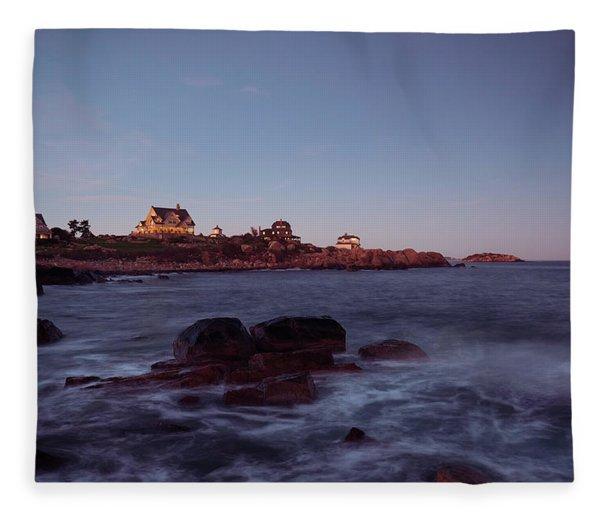 Blue Hour In Gloucester Fleece Blanket