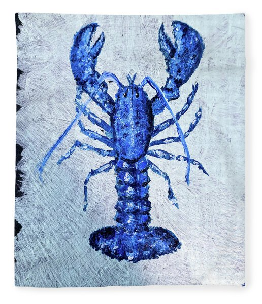 Blue Lobster 1 Fleece Blanket