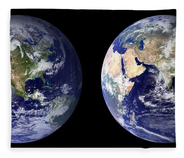 Blue Marble Composite Images Generated By Nasa Fleece Blanket