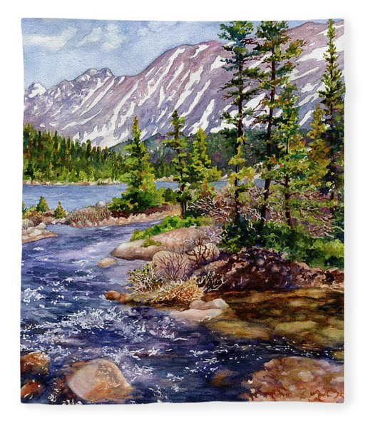 Blue River Fleece Blanket