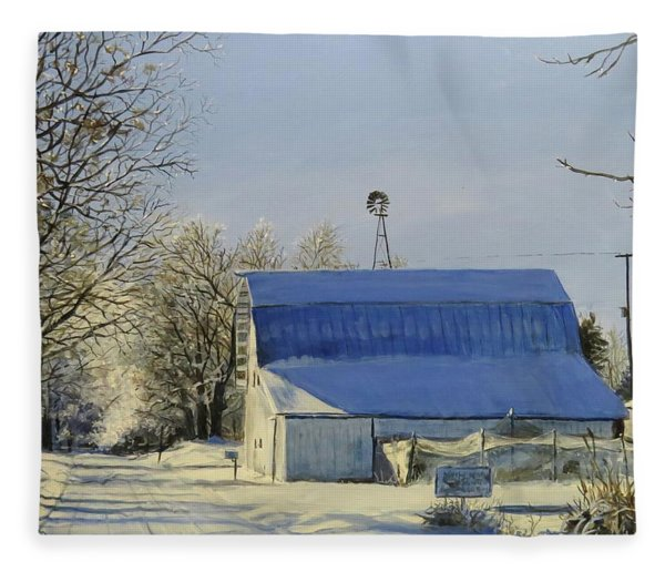 Blue Sunday Fleece Blanket