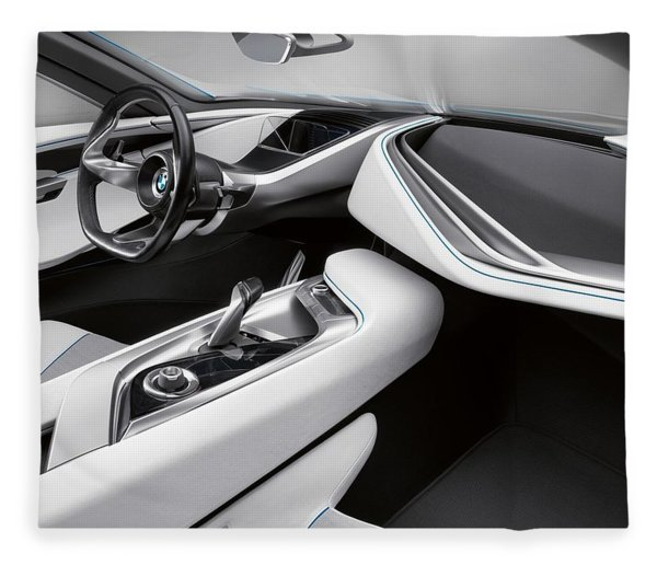 Bmw I8 Fleece Blanket