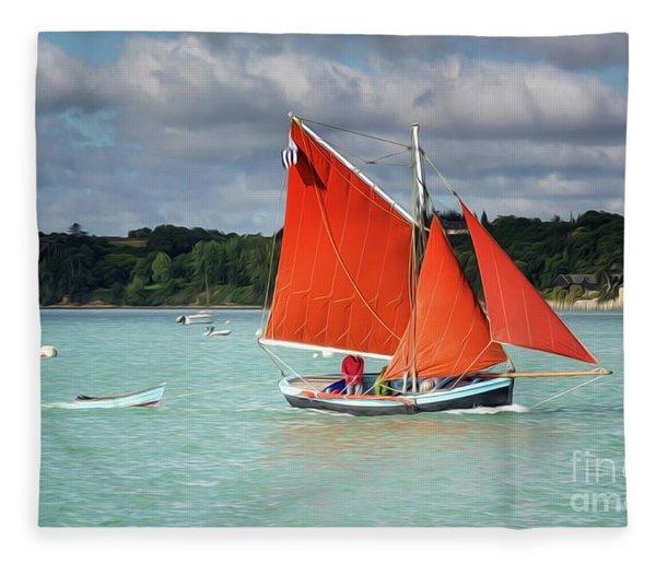 Boatshow 2 Fleece Blanket