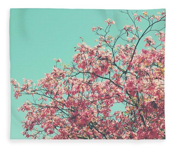 Boho Cherry Blossom 2- Art By Linda Woods Fleece Blanket