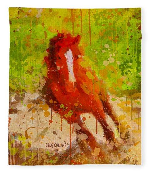 Born To Fly Fleece Blanket