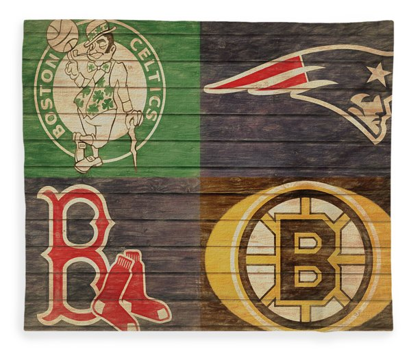 Boston Sports Teams Barn Door Fleece Blanket