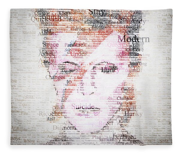 Bowie Typo Fleece Blanket