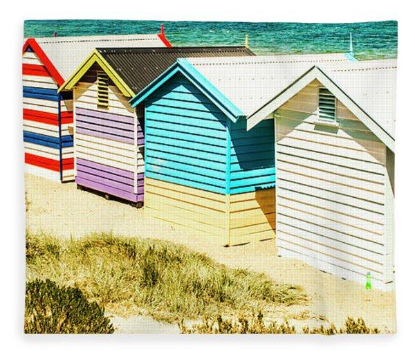 Brighton Beach, Melbourne Fleece Blanket