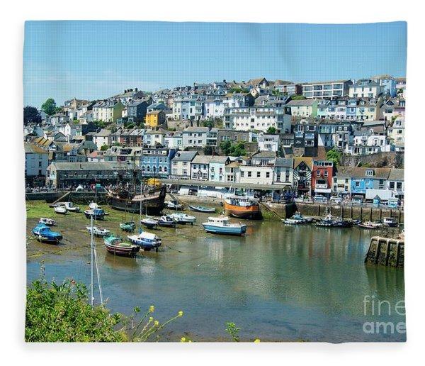 Brixham Harbour Fleece Blanket