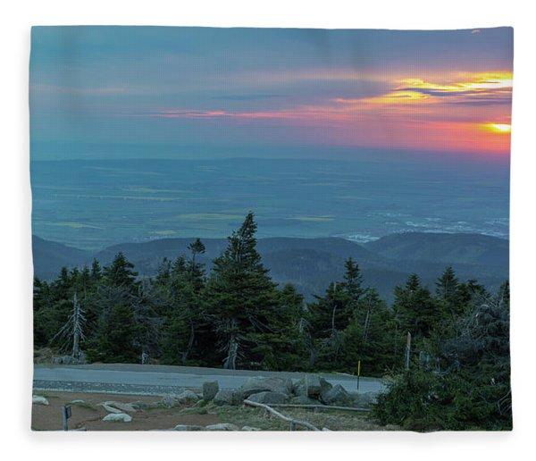 Brocken, Harz - Just After Sunrise Fleece Blanket