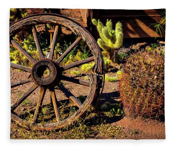 Broken Wagonwheel Fleece Blanket