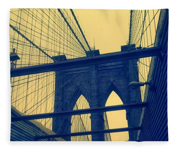 New York City's Famous Brooklyn Bridge Fleece Blanket