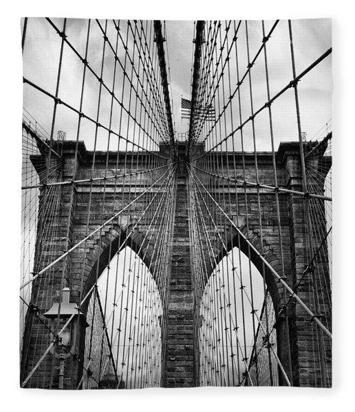 Brooklyn Bridge Mood Fleece Blanket
