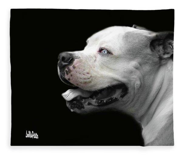 Bulldog Sando  Portrait  Fleece Blanket