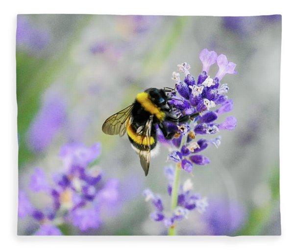 Fleece Blanket featuring the photograph Bumblebee by Bee-Bee Deigner
