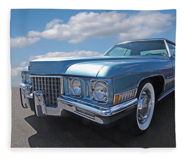 Cadillac Coupe De Ville 1971 Fleece Blanket
