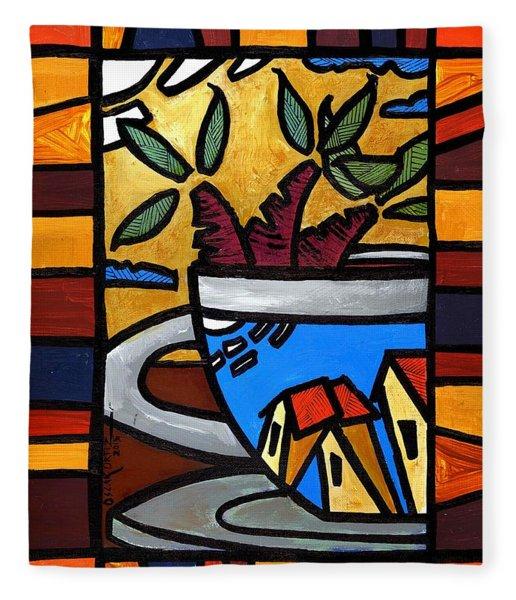 Cafe Caribe  Fleece Blanket