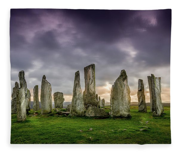 Callanish Stone Circle, Scotland Fleece Blanket