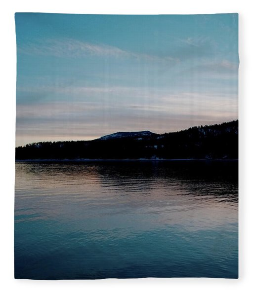 Calm Blue Lake Fleece Blanket