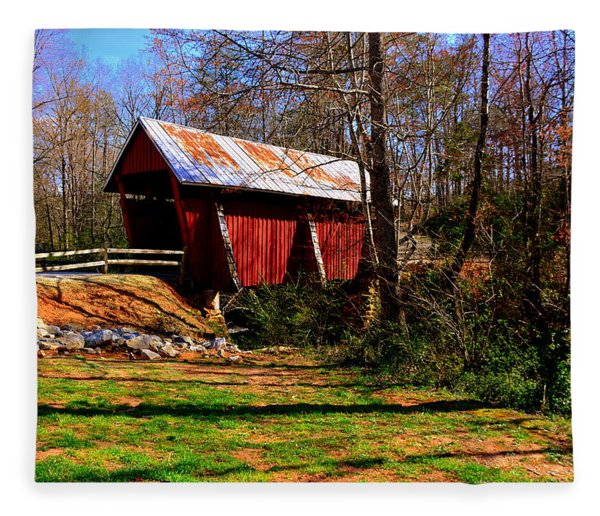 Campbell's Covered Bridge Est. 1909 Fleece Blanket
