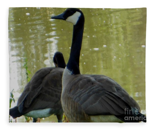 Canada Goose Edge Of Pond Fleece Blanket