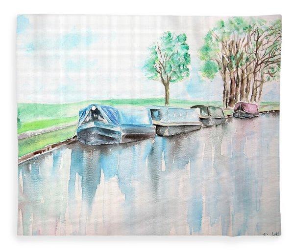 Canal Journey Fleece Blanket