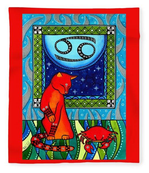 Cancer Cat Zodiac Fleece Blanket