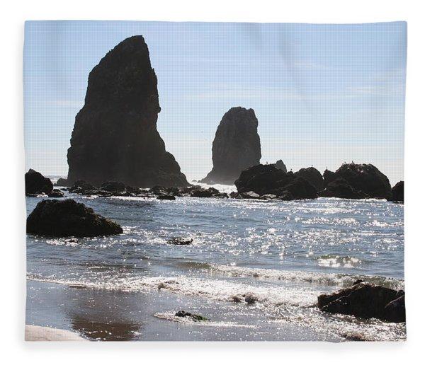Cannon Beach II Fleece Blanket